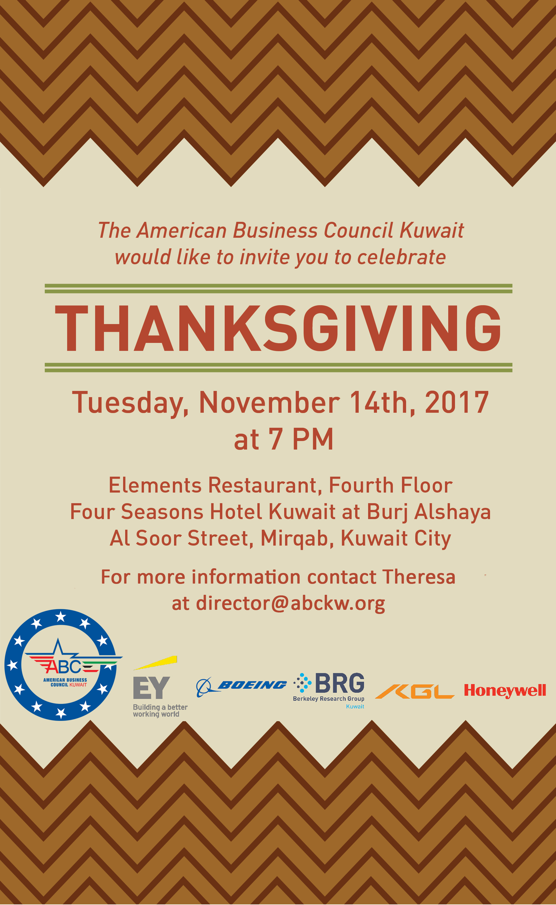 Thanksgiving with Graduates and Corporate Members - American Business  Council - Kuwait